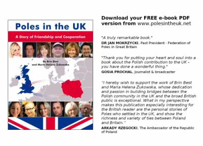 POLES IN THE UK e-book postcard, single